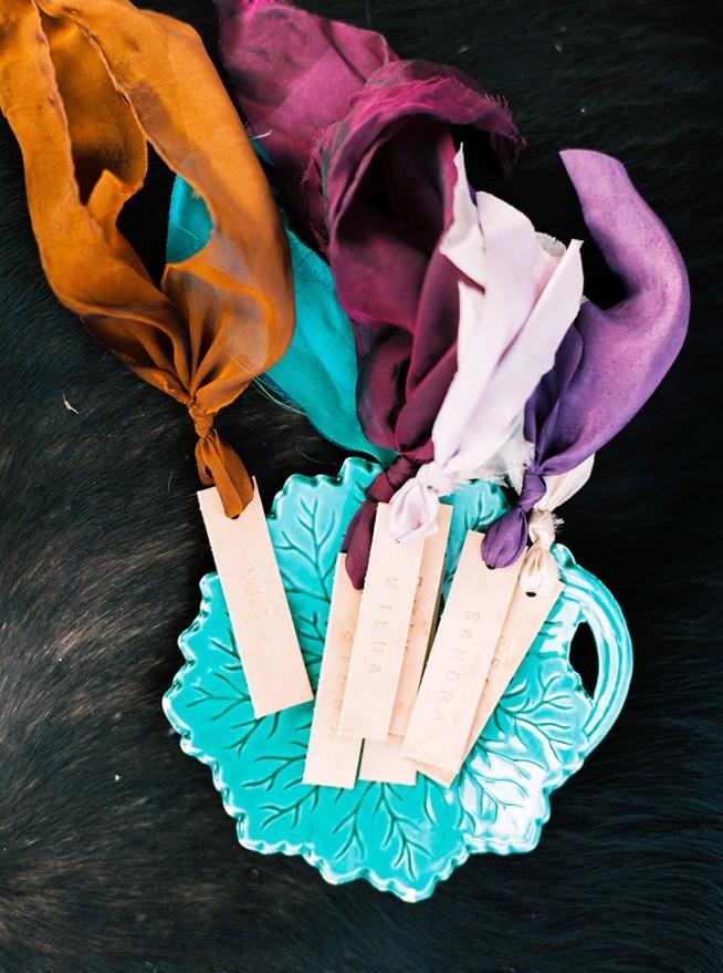 placerkort av läder Elins Art Studio