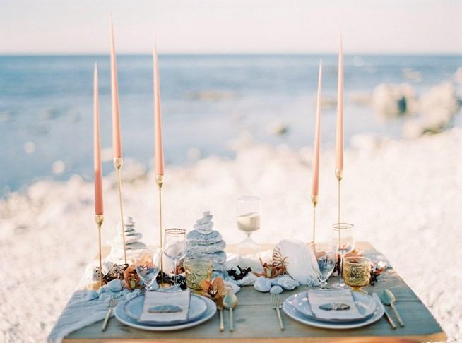bröllopsstyling med inspiration från havet