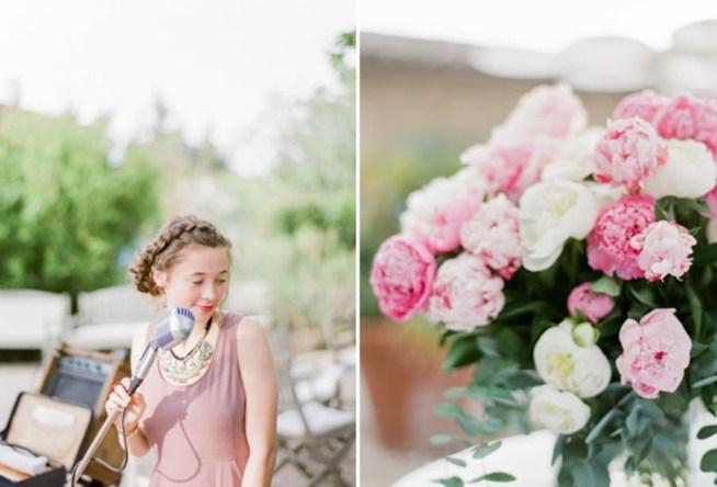 bröllopsblommor rosa pioner