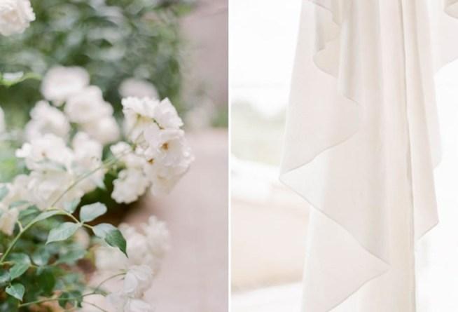 bröllopsdetaljer blommor och klänning