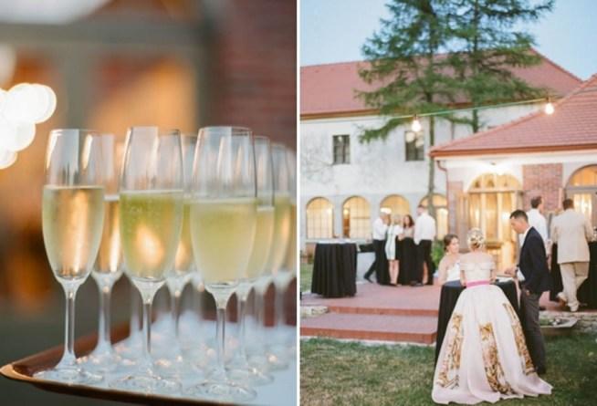 bröllop med mingel utomhus