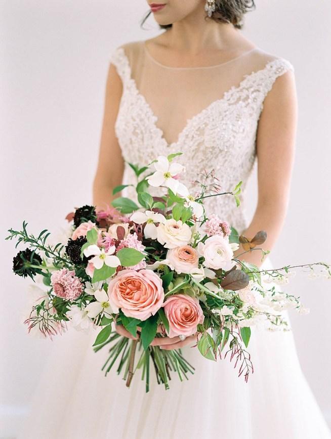 färgsprakande bröllopsinspiration brudbukett