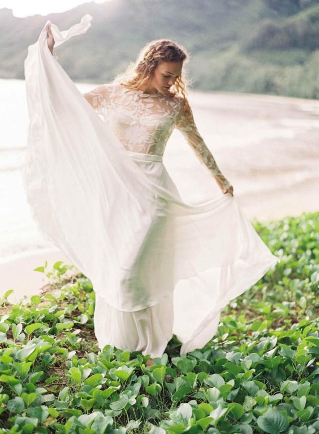 brudklänning med spetsöverdel