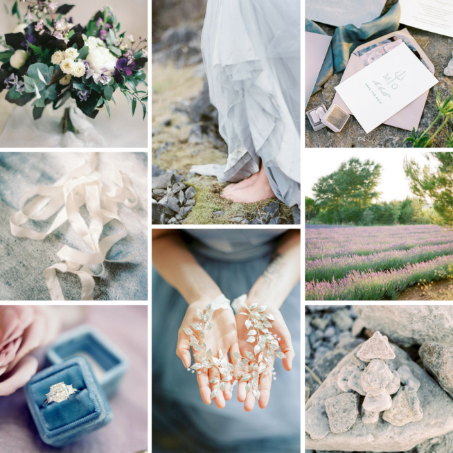 wedding moodboard pantone color of the year 2018 ultra violet
