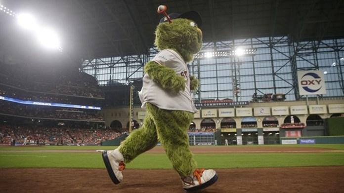 Astros fan sues for $1 million claiming Orbit's t-shirt cannon broke her finger