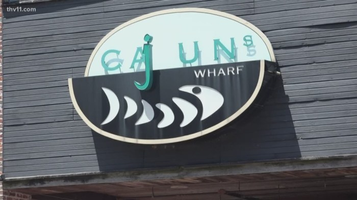 Thieves reportedly waded through flood water after stealing over $14k from Cajun's Wharf