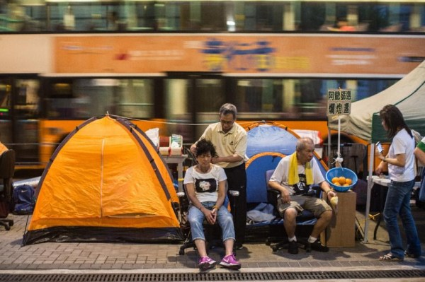 Protesters gather in Hong Kong a year since mass rallies ...