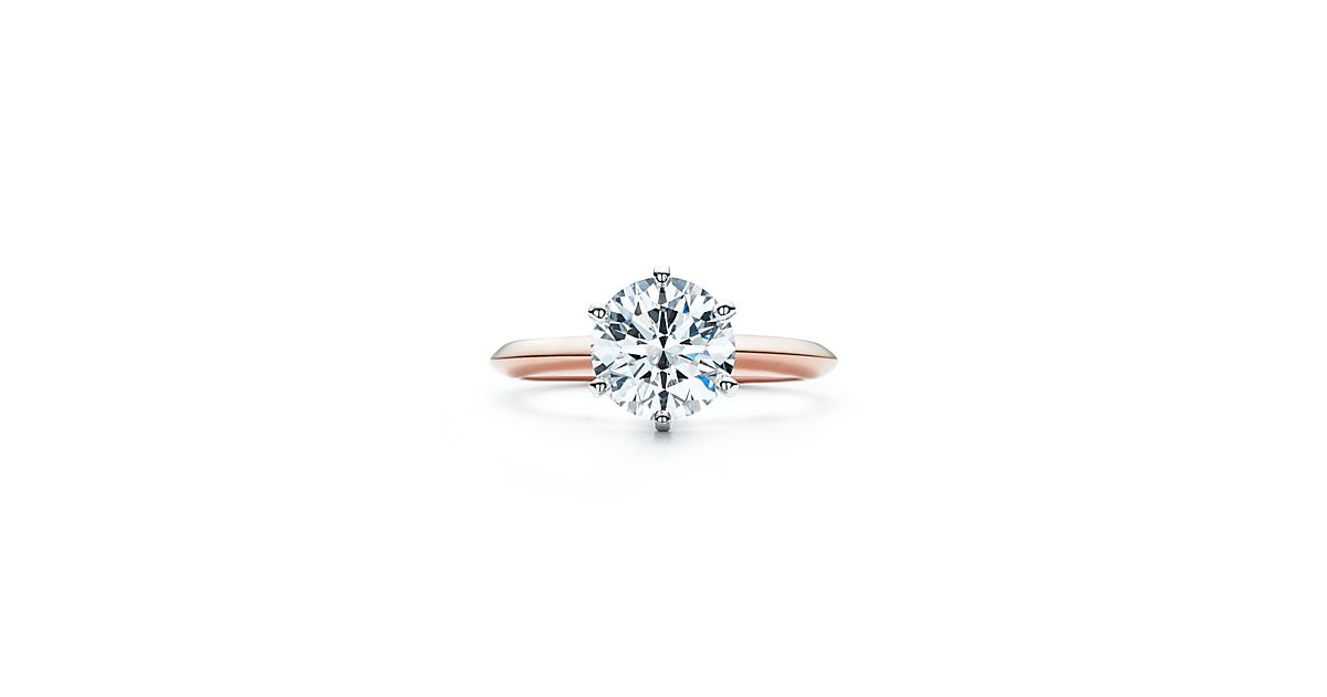 The Tiffany Setting 18K Rose Gold Engagement Rings