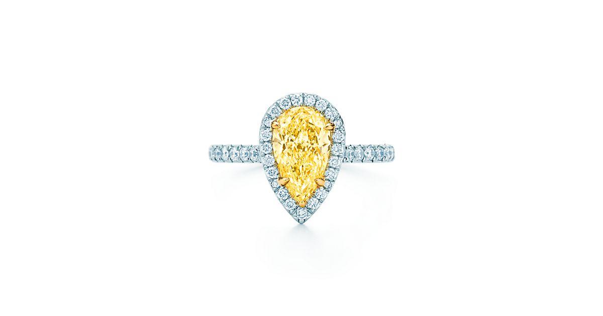 Tiffany Soleste Pear Engagement Rings Tiffany Amp Co