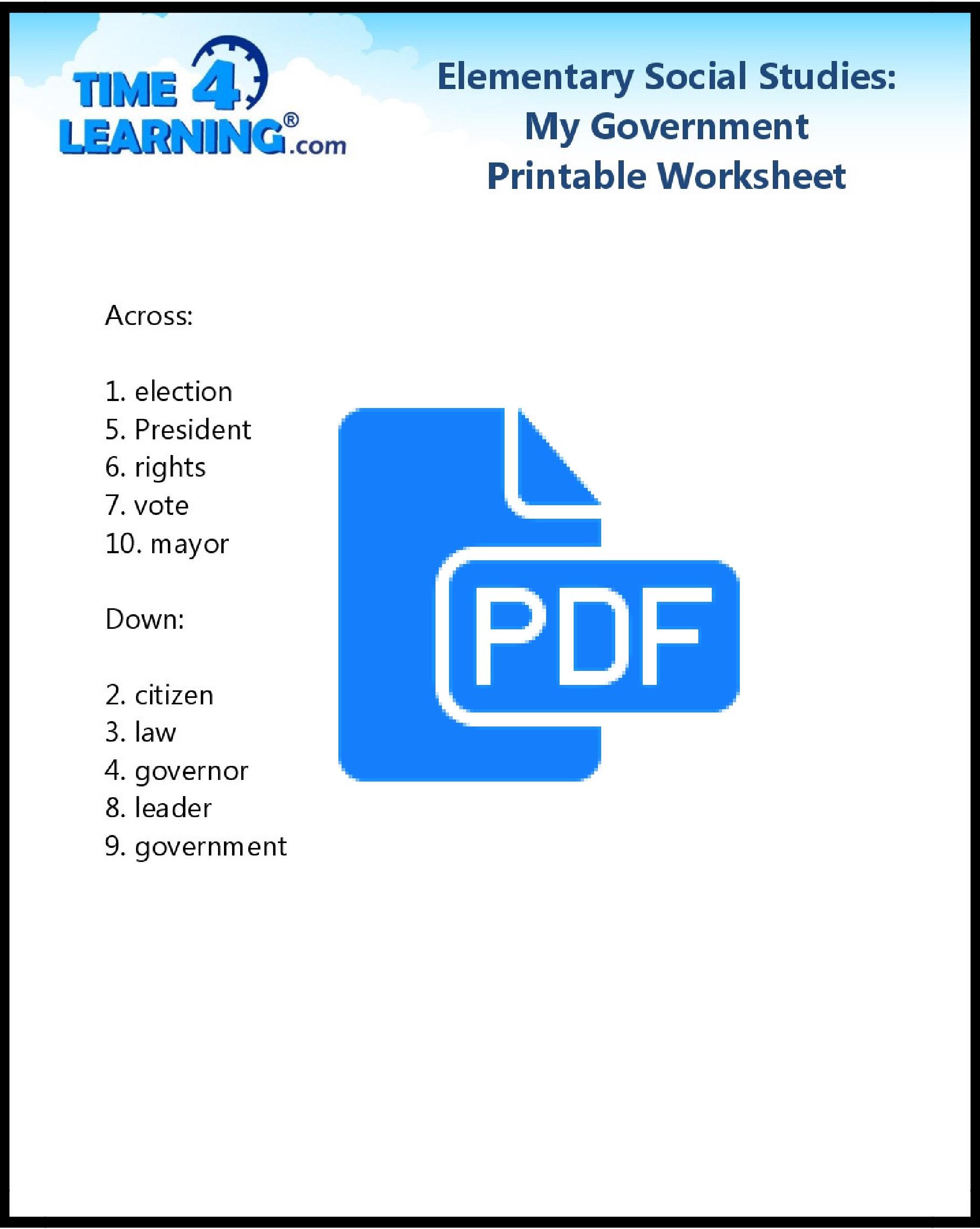 Worksheets Elementary Social Stu S Worksheets