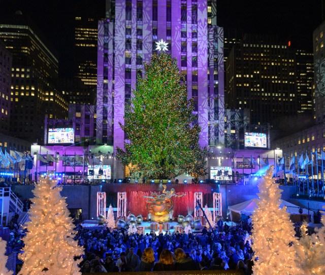 See Photos Of The Rockefeller Center Christmas Tree Lighting