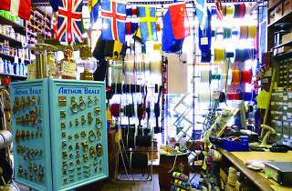 Arthur Beale Shopping In Covent Garden London