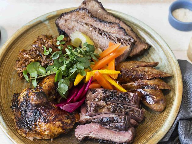 Pit-Master's Pick plate at NOLA Smokehouse and Bar