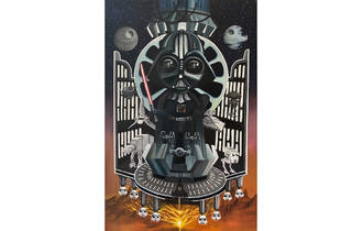 Darth Vader poster from the Star Wars exhibition.  A tribute from Erik Rivera