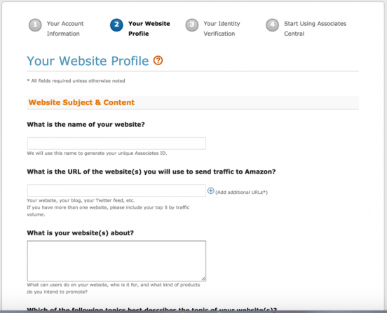 Configure ScrapeAZon - Your Website Profile