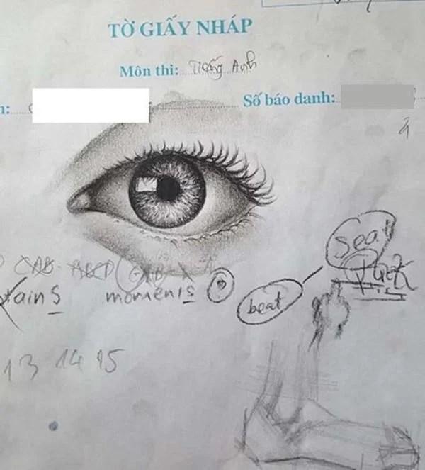'Siêu phẩm' trên giấy nháp của thí sinh thi THPT Quốc gia gây 'bão' 5