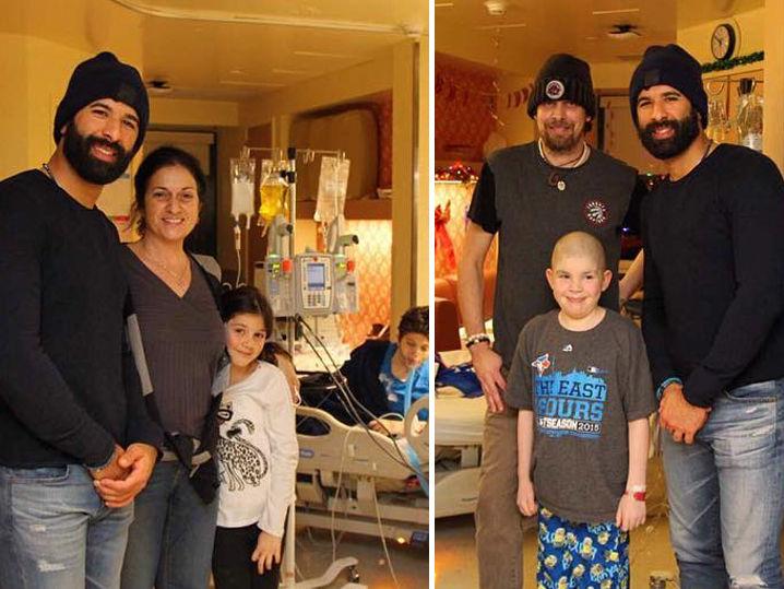 Jose Bautista Crashes Childrens Hospital In Toronto