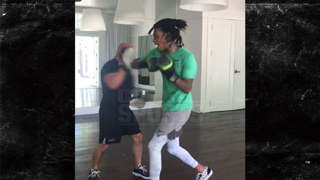 Image result for picture of wiz khalifa training to fight MMA