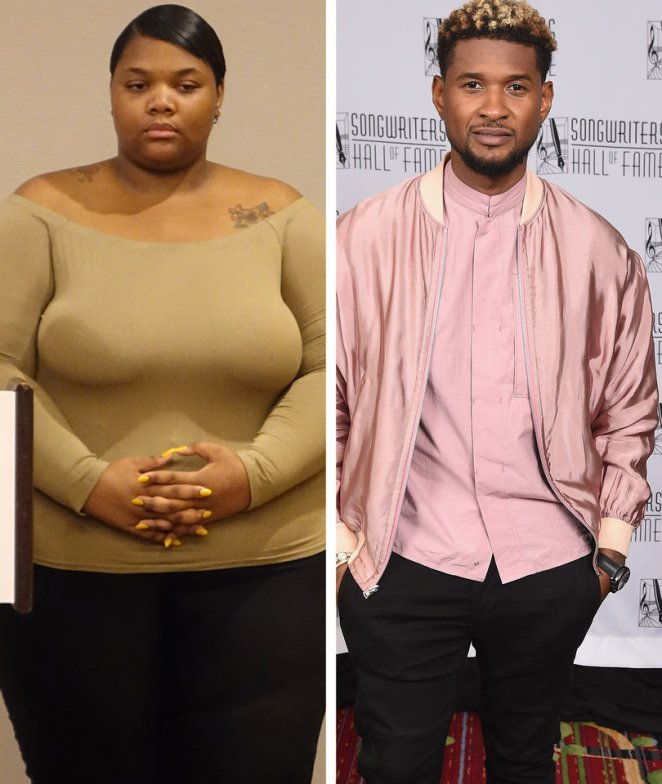 Usher's Herpes Accuser Sparks Fat Shaming Frenzy: '3 Star Defensive Tackle,'…