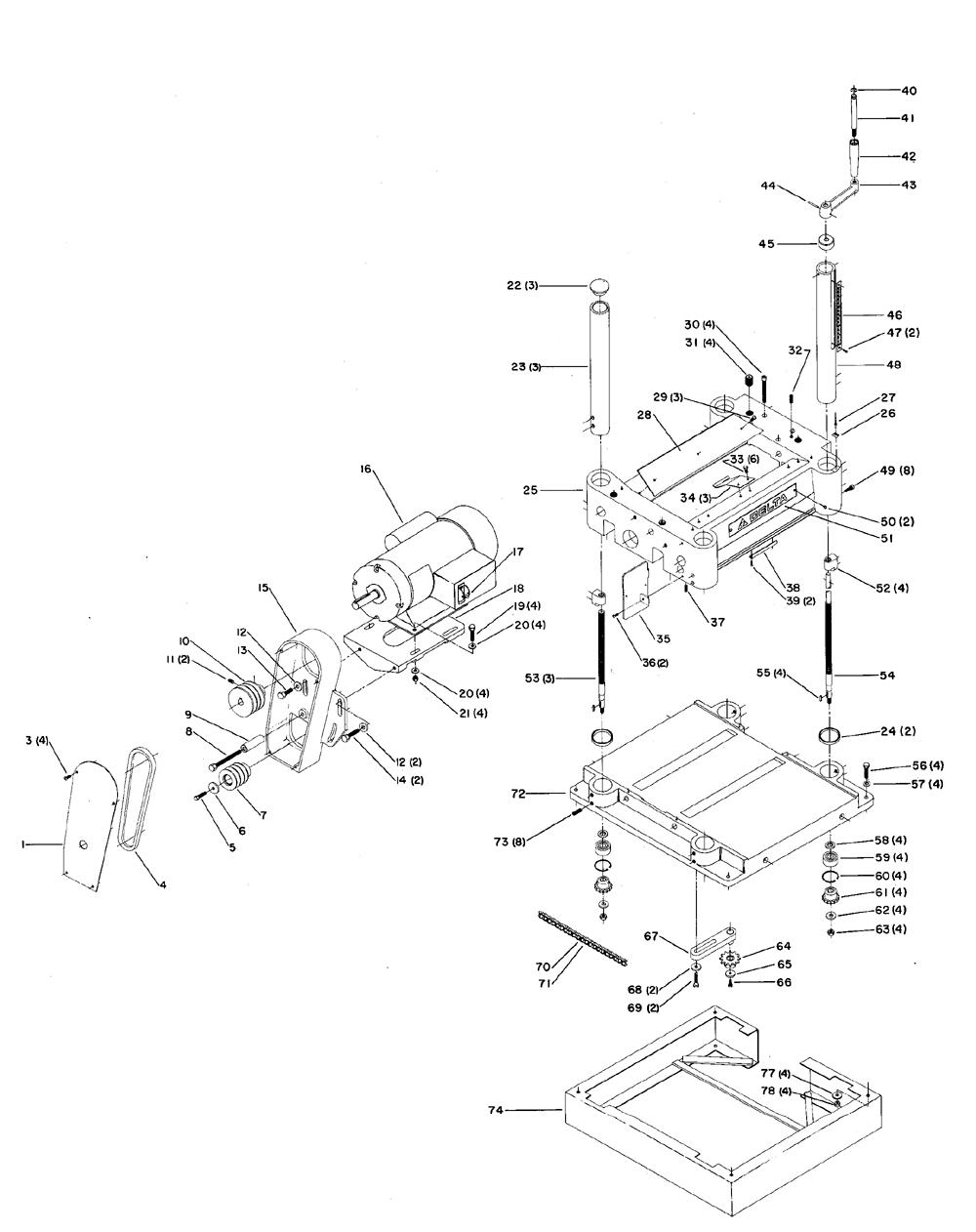 Delta Planer Parts Diagram
