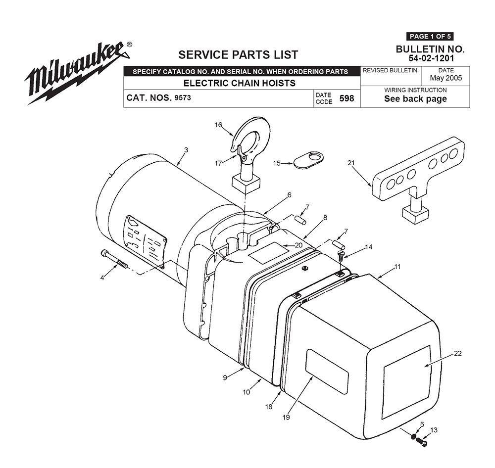 Buy milwaukee 9573 598 replacement tool parts milwaukee 9573 milwaukee 9573 598 parts schematic at skil switch wiring diagram