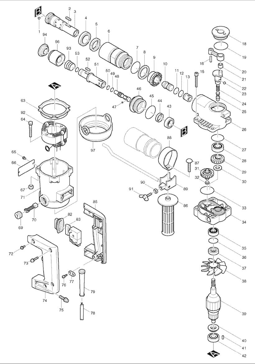 Makita 6302h Drill Wiring Diagram. Hilti Drill Diagram, Bosch Drill on