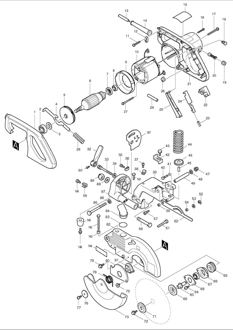 Makita Ls1011n Parts Schematic. Makita Ls1011n 10 Inch Slide Compound Miter  Replacement Tool