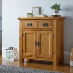 Small Oak Sideboard 80cm Free Delivery Top Furniture