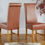 Titan Tan Brown Full Leather Dining Chair Free Delivery Top Furniture