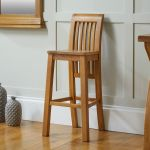 Westfield Tall Solid Oak Kitchen Stool Free Delivery Top Furniture