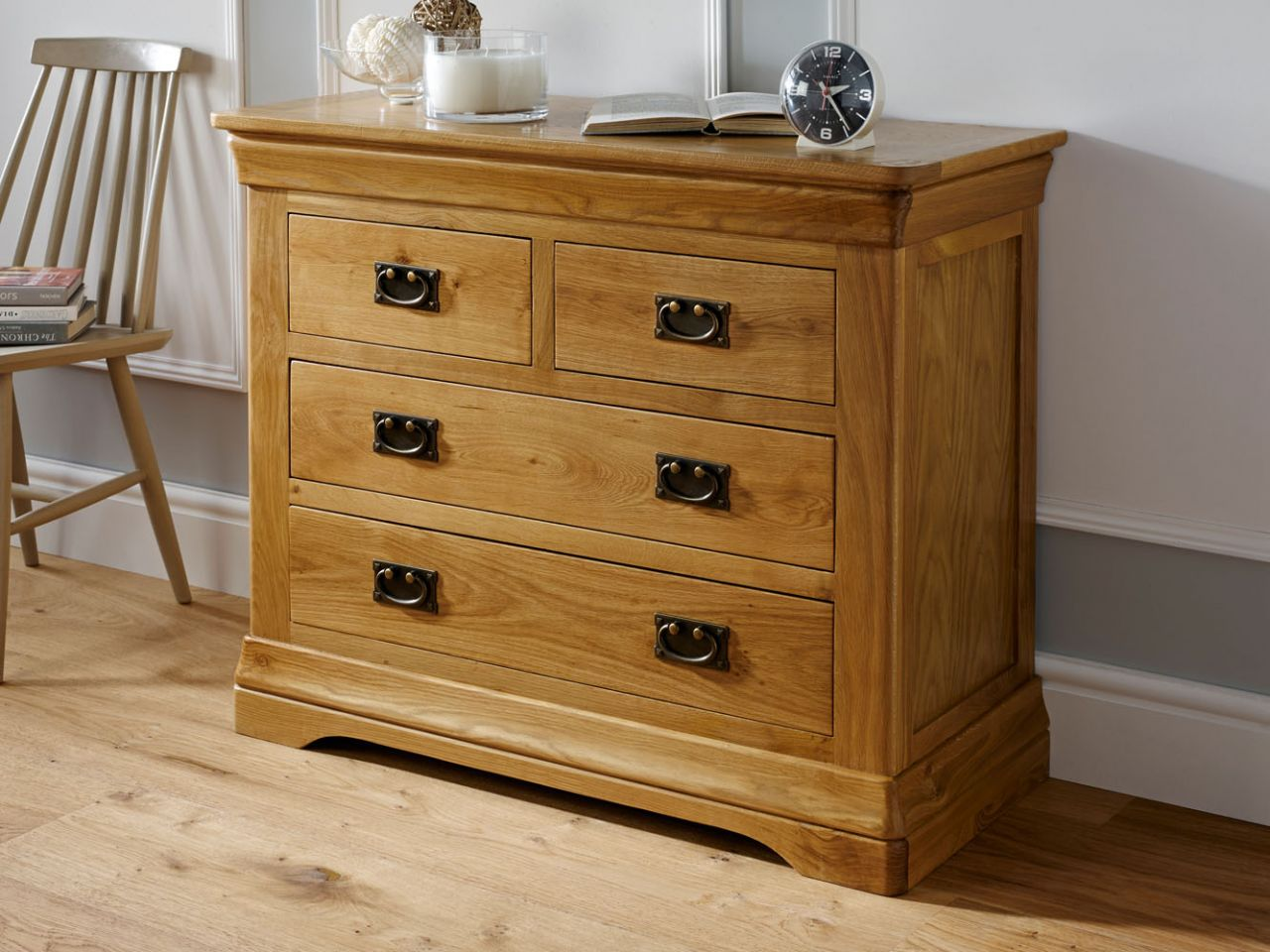 farmhouse country oak 2 over 2 chest of drawers free on country farmhouse furniture id=81887