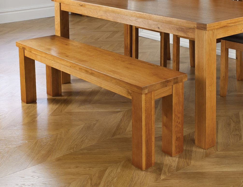 1 2m Solid Oak Indoor Dining Bench Free Delivery Top Furniture