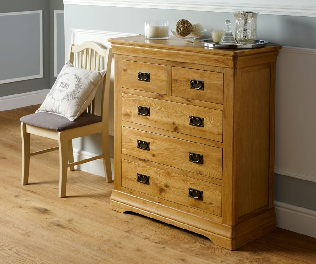french farmhouse country oak 2 over 3 chest of drawers on country farmhouse furniture id=41184