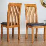 Westfield Solid Oak Dining Chair Brown Leather Free Delivery Top Furniture