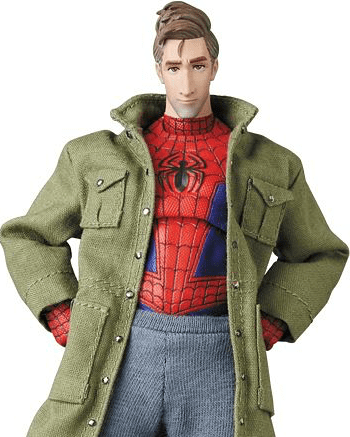 No Figure Green Multi Pocket Army Jacket for Marvel Legends Peter Parker