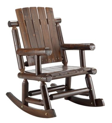 red shed stained log rocker ds001 at tractor supply co