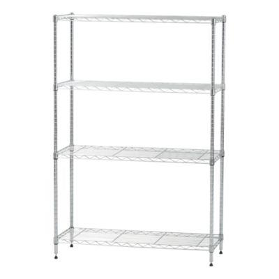 iris usa 4 shelf adjustable metal wire storage shelving unit steel organizer wire rack 596037