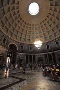 Roman Cement dome of the Pantheon (interior)