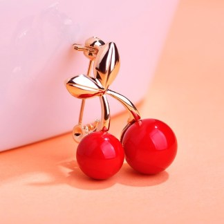 Red Cherry Brooches