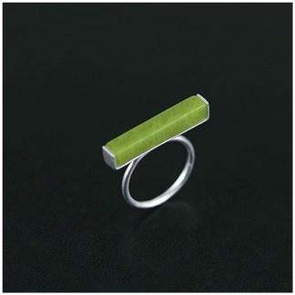 Sterling Silver Olivine Ring