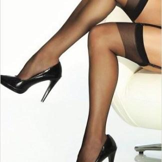 Black Sheer Thigh High Stockings