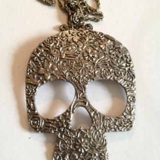 Silver Skull Halssmycke