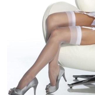 White Sheer Thigh High Stockings