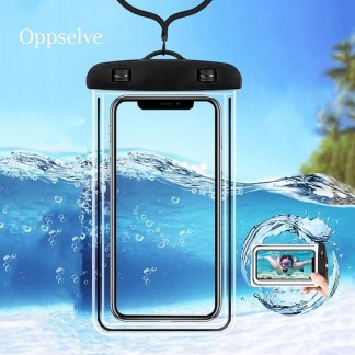 Clear PVC Sealed Waterproof Cellphone Cover