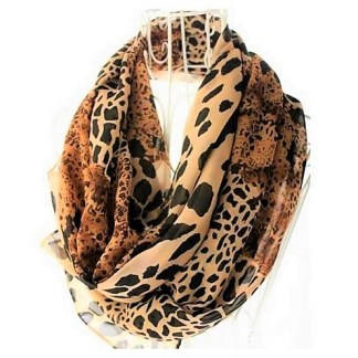 The Leopard Chiffon Long Shawl