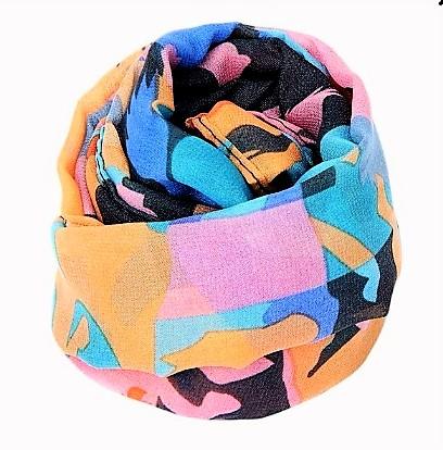 Modern Multicolor Chiffon Scarf