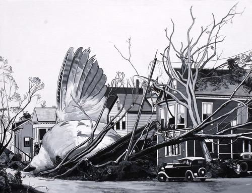 Caídos del Cielo. Revenge  Acrílico sobre tela  114 x 146 cm  2012