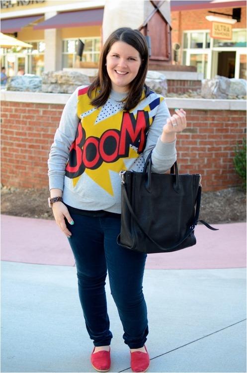 Still Being Molly Wearing a Boom Sweatshirt