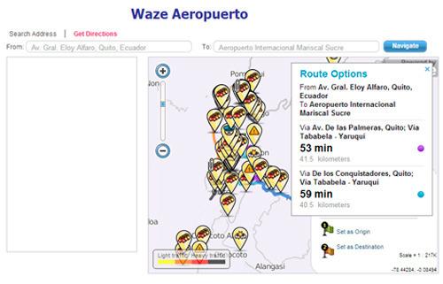 Waze aeropuerto