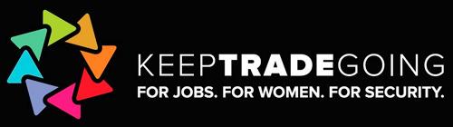 keep trade going: logo de la campaña de crowdsourcing